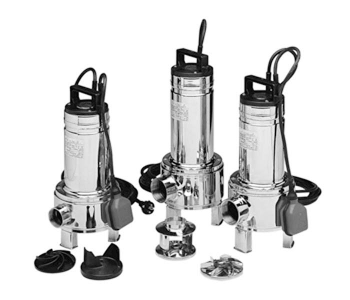 submersible electric pumps for drainage of clean and slightly dirty water