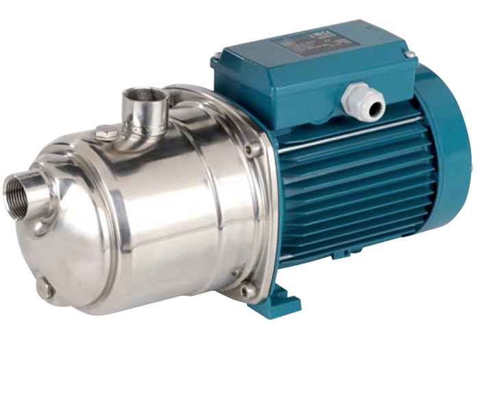self-priming jet pumps in chrome-nickel stainless steel